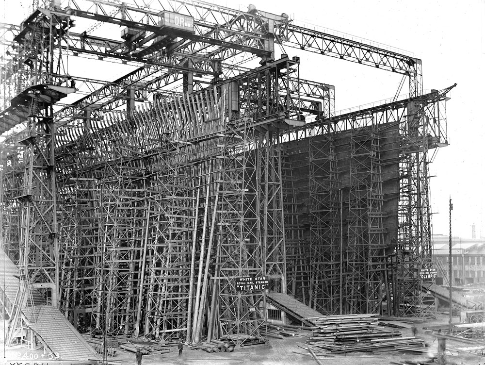 Titanic Being Build at Harland